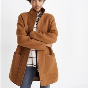 Madewell camel estate wool cocoon coat small